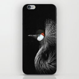 CROWNED CRANE by Monika Strigel iPhone Skin