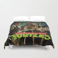 ninja turtles Duvet Covers featuring  teenage mutant ninja turtles by giftstore2u