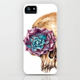 Blooming skull iPhone Case