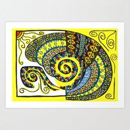 Tortosnail Art Print