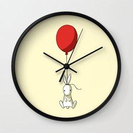 Balloon Bunny Wall Clock
