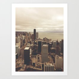 Chicago City Buildings Color Photo Architecture Art Print