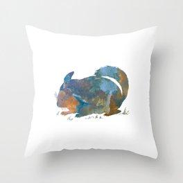 Chinchilla art Throw Pillow
