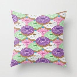 Glazed Donuts Throw Pillow