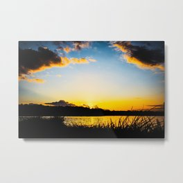 Sundown At Lake Heve 4 Metal Print