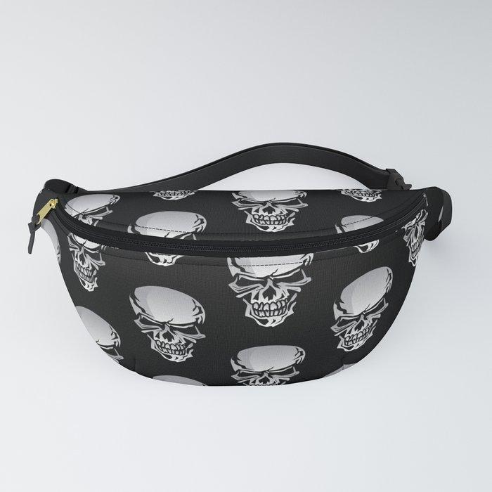 Chrome Skull Illustration Fanny Pack