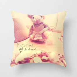 Memories of Childhood Throw Pillow