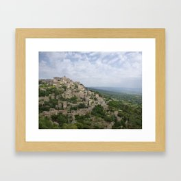Hilltop village of Gordes Framed Art Print
