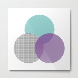 abstract circles - blue purple grid Metal Print
