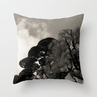 japanese Throw Pillows featuring japanese by noirblanc777