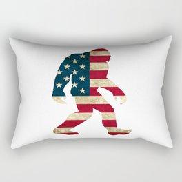 Bigfoot american flag Rectangular Pillow