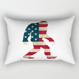 Bigfoot american flag Rectangular Pillow