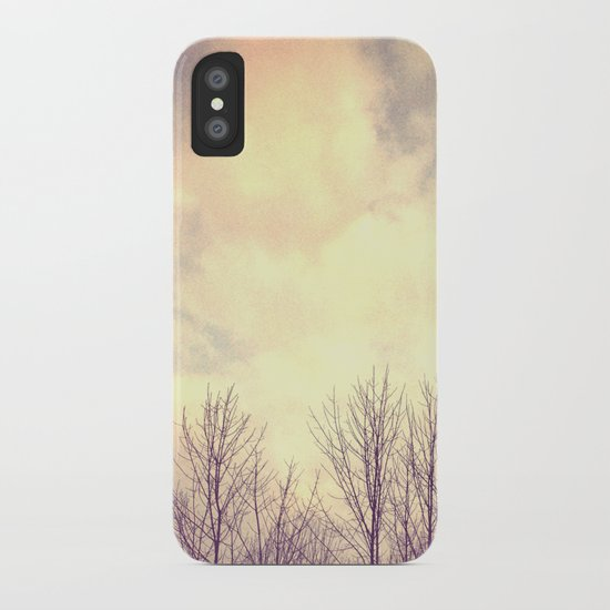 Her Bare Branches Waited for Spring iPhone Case