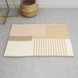Sol Abstract Geometric Print in Tan Rug