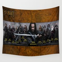 lord of the rings Wall Tapestries featuring the dwarves,hobbit,lord of the rings,thorin,#thehobbit, #lordoftherings by ira gora