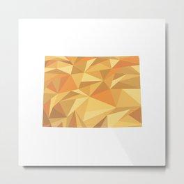 Colorado Pattern Map Art Metal Print