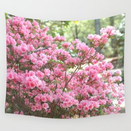 Spring Pink Blossoms Trees Nature Print - Pink Spring Trees Blossoms Wall Tapestry