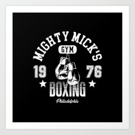 Mighty Mick's Boxing Gym Art Print