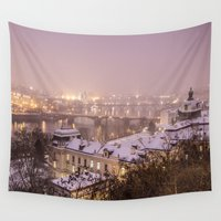 prague Wall Tapestries featuring Prague 3 by Veronika