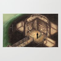 tomb raider Area & Throw Rugs featuring Maeshowe Tomb by Rushelle Kucala Art