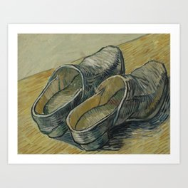 A Pair of Leather Clogs Art Print