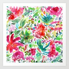 Spring vibes || watercolor Art Print