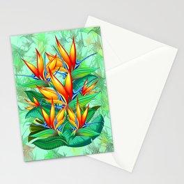 Bird of Paradise Flower Exotic Nature Stationery Cards