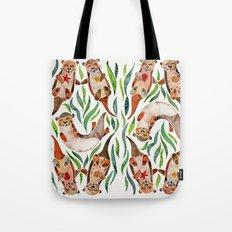 Five Otters – Green Seaweed Tote Bag