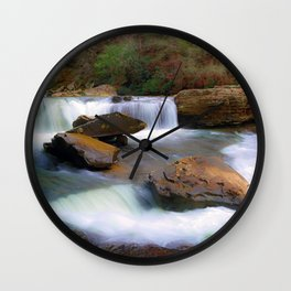 Obed Waterfall Wall Clock