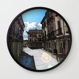Calle Mayor (color) Wall Clock