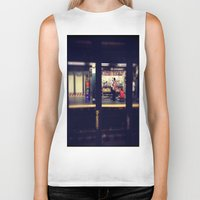 subway Biker Tanks featuring Subway by Alissa Fleck
