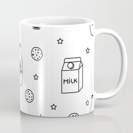 Doodle milk star cookies pattern Coffee Mug