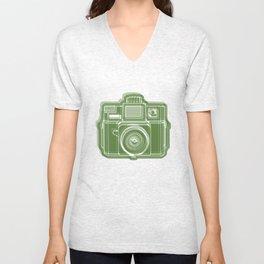 I Still Shoot Film Holga Logo - Green Unisex V-Neck