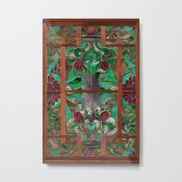 1922 Stained Glass Metal Print