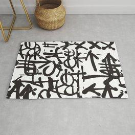 Graffiti Pattern Rug