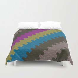 Colorful Zigzag Pattern Duvet Cover