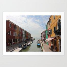 Burano in Venezia Art Print