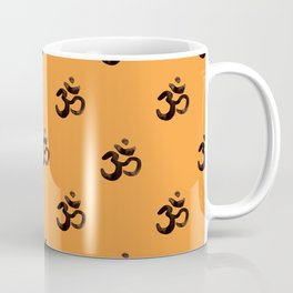 Om, aum,  Meditation Relaxation Typography Hand written Pattern Coffee Mug