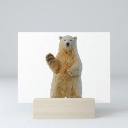 Say hello to my polar bear - Low poly design  Mini Art Print