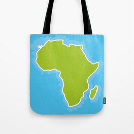 map of Africa Continent and blue Ocean. Vector illustration Tote Bag