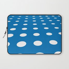 WHITE DOTS ON A BLUE BACKGROUND Abstract Art Laptop Sleeve