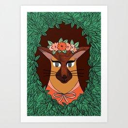 Foxi Lady Art Print