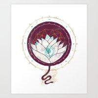 The Lotus Art Print