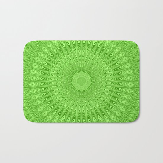 Green mandala Bath Mat