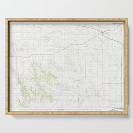 NM Clayton 190216 1982 topographic map Serving Tray