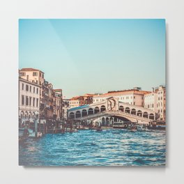 Italy Photography - Rialto In The Evening Metal Print