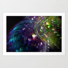 Black Peacocks Art Print
