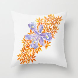 Iris and Butterfly Weeds Throw Pillow