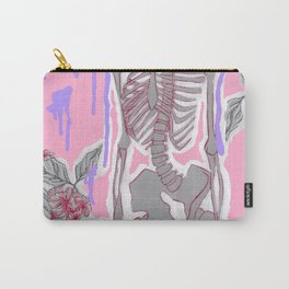 Bones and Flowers Carry-All Pouch