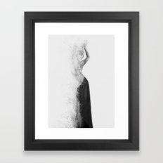 Inconspicuousness 2 (Black & White) Framed Art Print